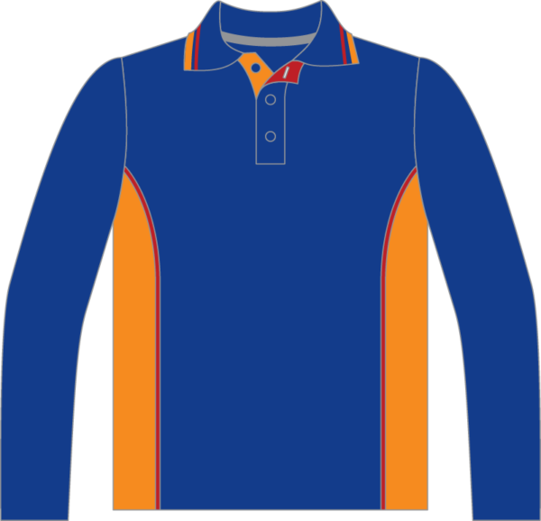 Long Sleeve Polo Front View